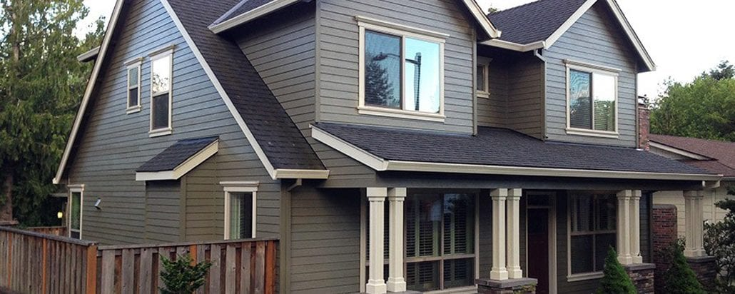 portland siding contractor grey siding job