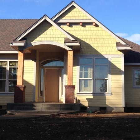 yellow shake James Hardie siding