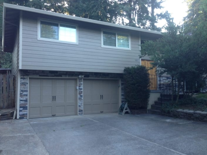 James Hardie siding and Trim with Exterior Sherwin Williams paint and new Stone