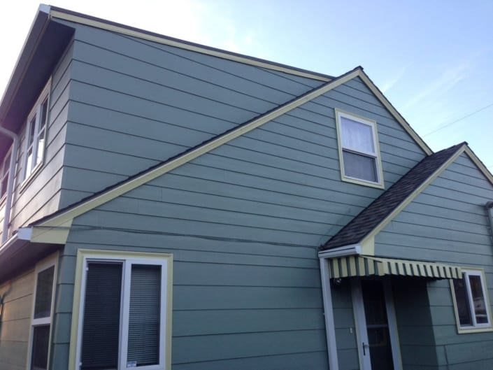 new siding side of home