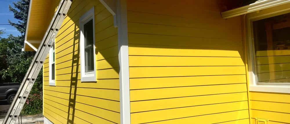 new paint yellow house