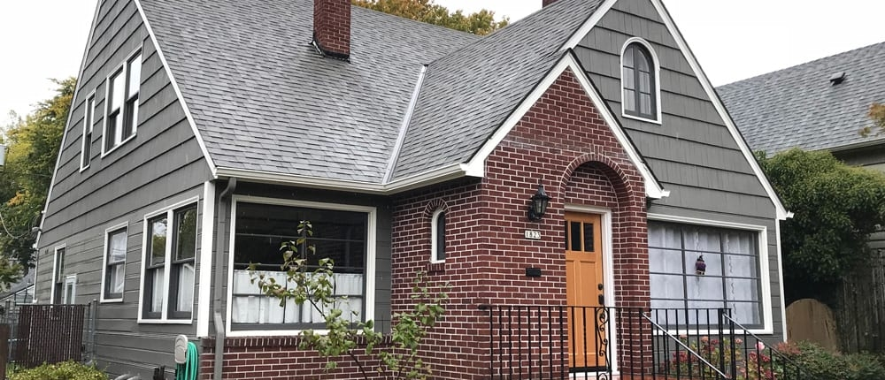 completed malarky roofing on a portland home