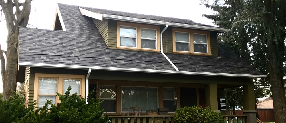 completed roofing example