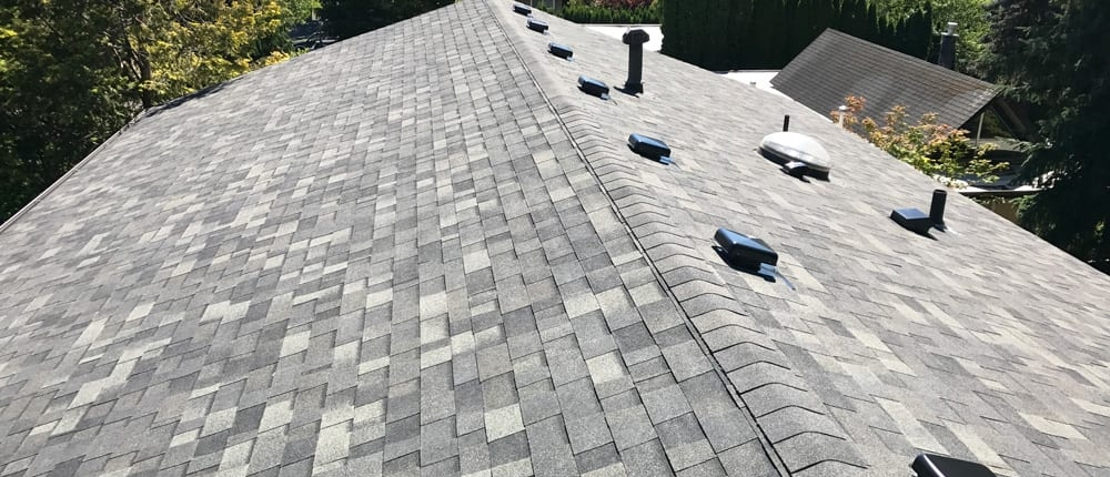 close up of roofing