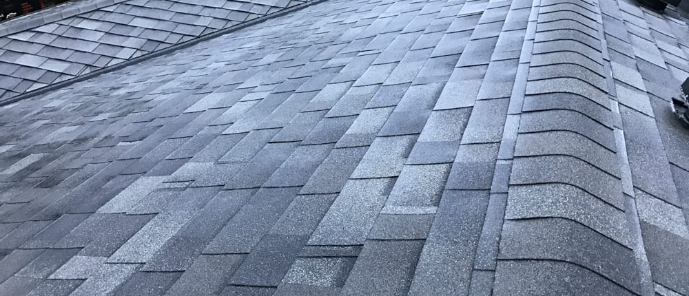 another angle on close up roofing shingles
