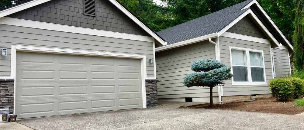 siding with brick accent