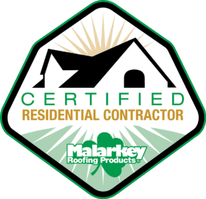 certified residential malarkey roofing badge